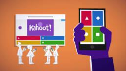 Picture showing people playing with Kahoot