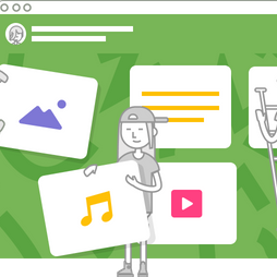 draws of students using Padlet