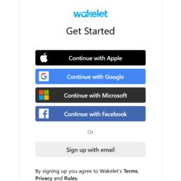 wakelet account creation